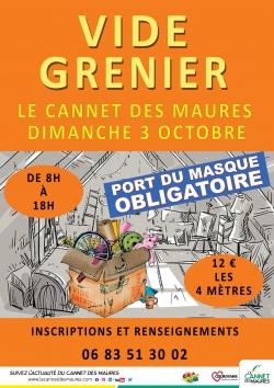 Vide grenier au Cannet des Maures