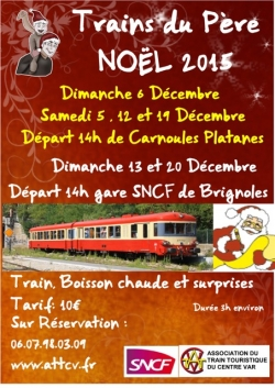 Train du Père Noël à Carnoules