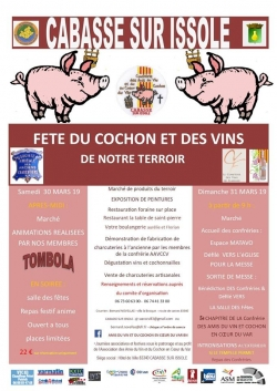 Fête du cochon et des vins de notre terroir à Cabasse